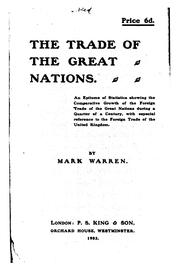 Cover of: The trade of the great nations
