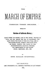 Cover of: The march of empire through three decades