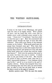 The western sketch-book by James Gallaher