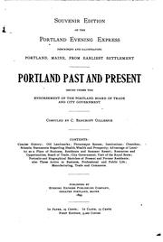 Cover of: Portland past and present by Gillespie, Charles Bancroft
