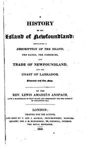 Cover of: A history of the island of Newfoundland