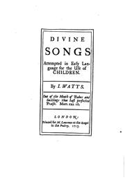 Cover of: The divine and moral songs of Isaac Watts