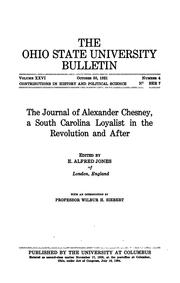 Cover of: The journal of Alexander Chesney