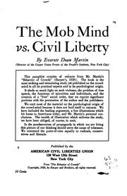 Cover of: The mob mind vs. civil liberty