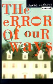 Cover of: The Error of Our Ways: A Novel