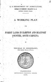 Cover of: A working plan for forest lands in Hampton and Beaufort counties, South Carolina