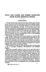 Cover of: Pulp and paper and other products from waste resinous woods