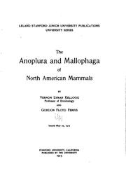 Cover of: The Anoplura and Mallophaga of North American mammals