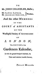 Cover of: The gardeners kalendar