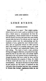 Cover of: Life and genius of Lord Byron