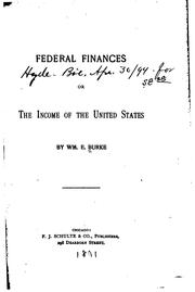 Cover of: Federal finances