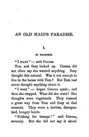 Cover of: An old maid's paradise