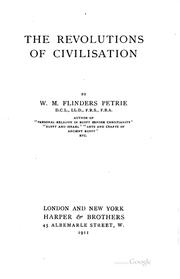 Cover of: The revolutions of civilisation