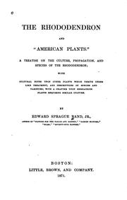 "Cover of: The rhododendron and ""American plants"""