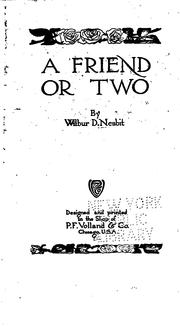 Cover of: A friend or two