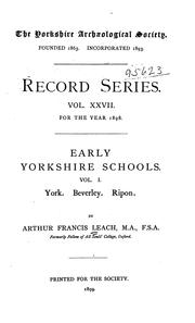 Cover of: Early Yorkshire schools