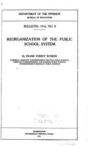Cover of: Reorganization of the public school system