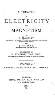 Cover of: A treatise on electricity and magnetism