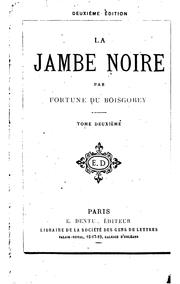 Cover of: La jambe noire
