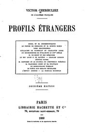 Cover of: Profils étrangers