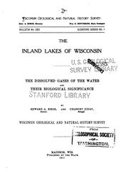 Cover of: The inland lakes of Wisconsin