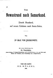 Cover of: Vom Newastrand nach Samarkand