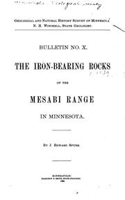 Cover of: The iron-bearing rocks of the Mesabi range in Minnesota