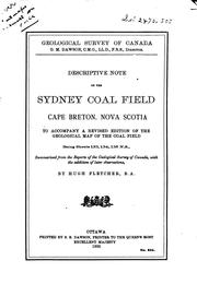 Descriptive note on the Sydney coal field, Cape Breton, Nova Scotia by Geological Survey of Canada.