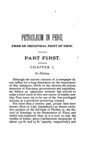 Cover of: Petroleum in Peru, from an industrial point of view