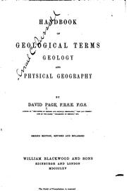 Cover of: Handbook of geological terms, geology and physical geography
