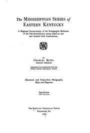 Cover of: Mississippian series of eastern Kentucky. | Charles Butts