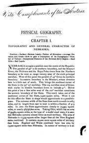 Cover of: Sketches of the physical geography and geology of Nebraska. | Aughey, Samuel