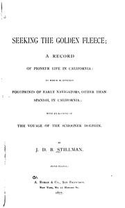 Cover of: Seeking the Golden fleece | J. D. B. Stillman