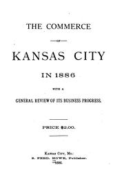 Cover of: The commerce of Kansas City in 1886