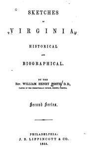 Cover of: Sketches of Virginia