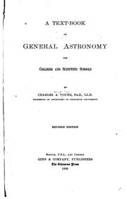 Cover of: A text-book of general astronomy for colleges and scientific schools