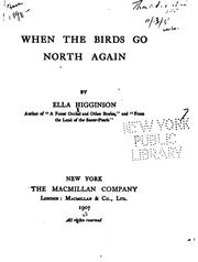 Cover of: When the birds go north again