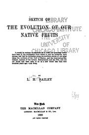 Cover of: Sketch of the evolution of our native fruits