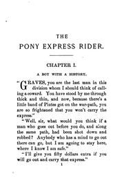 Cover of: The pony express rider