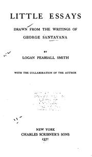 Cover of: Little essays