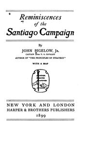 Cover of: Reminiscences of the Santiago campaign