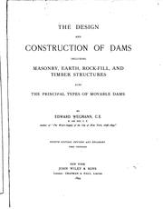 Cover of: The design and construction of dams