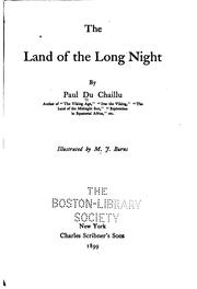 Cover of: The land of the long night | Paul B. Du Chaillu