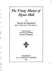 Cover of: The young master of Hyson Hall