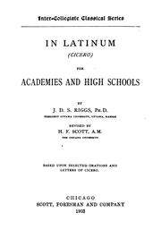Cover of: In latinum (Cicero) for academies and high schools