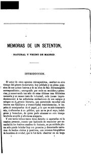 Cover of: Memorias de un setentón