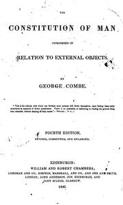 Cover of: Constitution of man