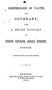 Cover of: Confession of faith and covenant