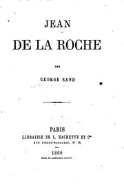 Cover of: Jean de la Roche