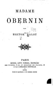 Cover of: Madame Obernin